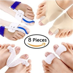 8PCS/SET Hallux Valgus Corrector Alignment Toe Separator Metatarsal Splint Orthotics Pain Relief Foot Care Tool