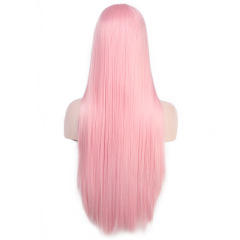 wig High temperature wire straight hair Pure hand-woven straight hair