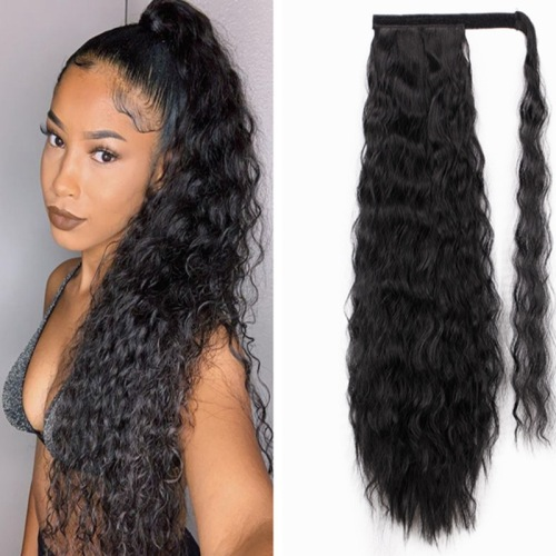 Wig long curly hair braid Fashion Thick Wave Human Hair Extension Hair Water Hair Extension Natural Color