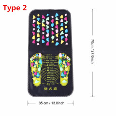 Foot Massager Mat Reflexology Walk Relax Massager Stone Pain Relieve Leg Mat Care Pad Muscle Stimulation Pad