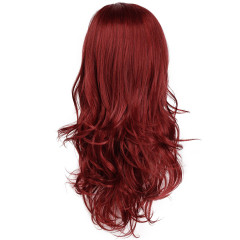 New wig high temperature silk lady wine red hair