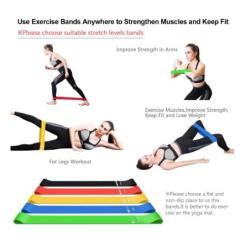 Sport Yoga Resistance Bands Fitness Workout Elastic Tension Band Strength Training Yoga Loops Health exercise Pull Strap Belt