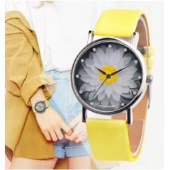 New Fashion Ladies Watch Womens Flower Casual Leather Analog Quartz Wrist Watches Quartz Clock Gifts Relogio Feminino