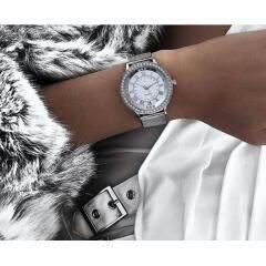 Women Rhinestone Watch Fashion Casual Women Silver & Rose Gold Mesh Wristwatches Gift Clock Relogio Feminino Hot