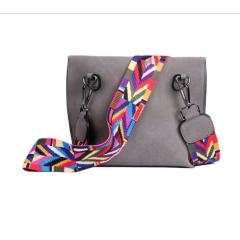 Women's Bag Scrub PU Crossbody Bags Luxury Handbags Women Bags Designer bolso mujer Colorful Strap sac a main femme