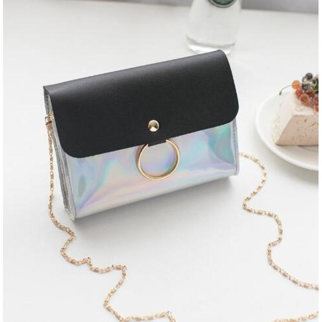 Laser Crossbody Bag For Women Chain Mini Shoulder Bag Circle Small Messenger Bag Womens Handbags and Purses evening clutch bags