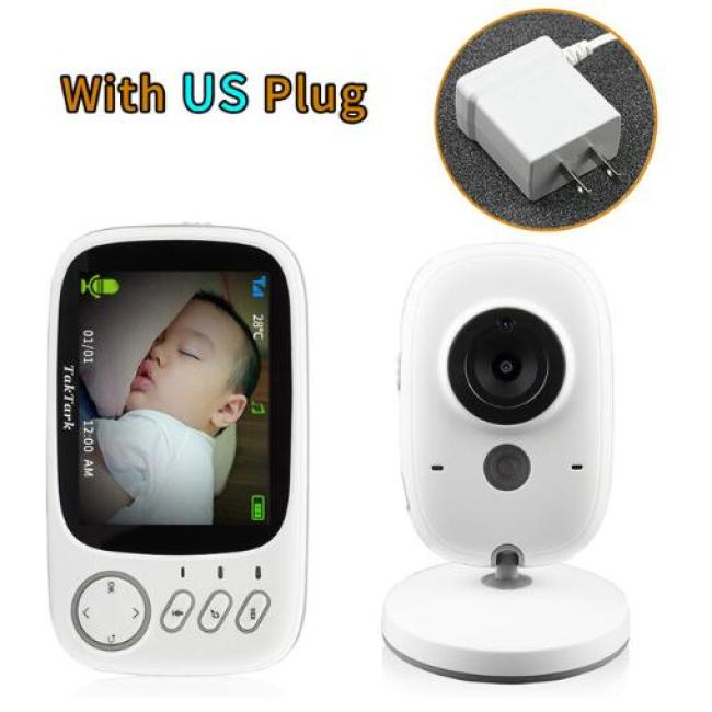 3.2 inch Wireless Video Color Baby Monitor High Resolution Baby Nanny Security Camera Night Vision Temperature Monitoring