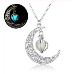 Pendant Necklaces For Women Silver Plated Chain Long Night Moon Necklaces Women Fashion Jewelry Necklaces