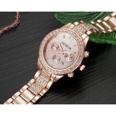 Women Watches Stainless Steel Exquisite Watch Women Rhinestone Luxury Casual Quartz Watch