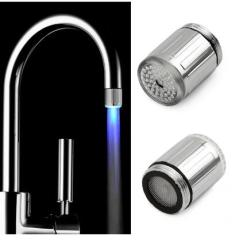 Hight Quality 7 Colors LED Water Faucet Light Changing Glow Shower Head Kitchen Tap Aerators