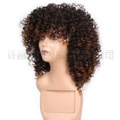 Short curly hair Fashion Curly Human Hair Wig Natura