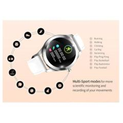Waterproof Smart Watch Women Lovely Bracelet Heart Rate Monitor Sleep Monitoring Smartwatch Connect IOS Android