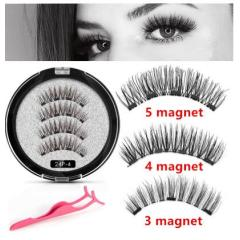 Magnetic Eyelashes False Hand Made Natural Eyelashes 3D Full Strip False Lashes 1 Pair Fake Eyelashes Long Lasting With Gift Box