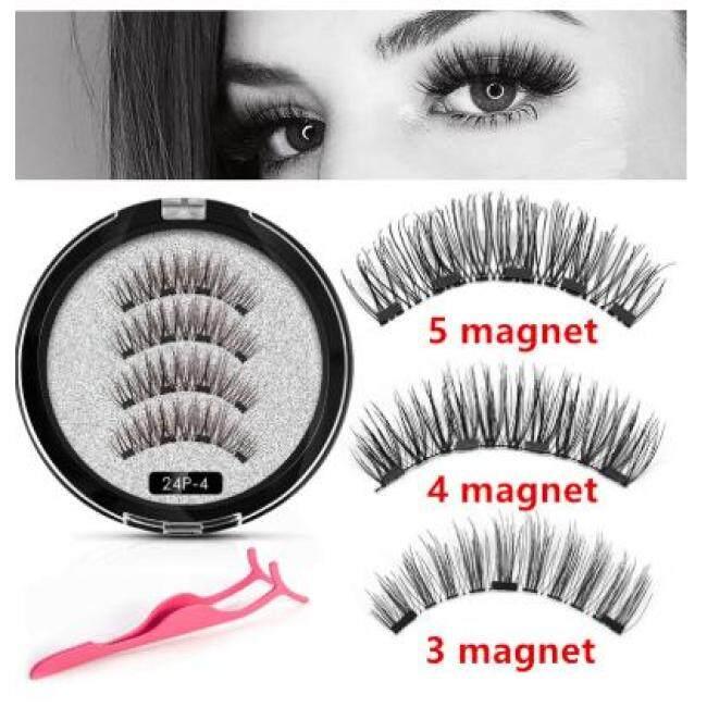 Magnetic Eyelashes False Hand Made Natural Eyelashes 3D Full Strip False Lashes 1 Pair Fake Eyelashes Long Lasting With Gift Box
