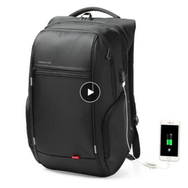 """15""""17"""" Laptop Backpack External USB Charge Computer Backpacks Anti-theft Waterproof Bags for Men Women"""