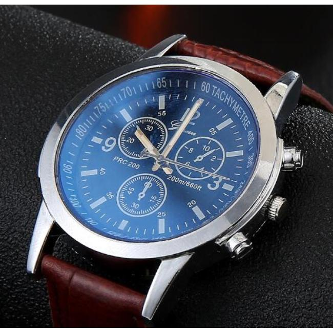 Blu-ray glass classic watch fashion men's watch