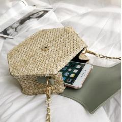 Mulit Style Straw+leather Handbag Women Summer Rattan Bag Handmade Woven Beach Circle Bohemia Shoulder Bag New Fashion