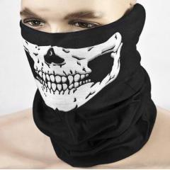 Multifunctional Cycling Bike Skull Skeleton Headwear Hat Neck Ghost Scarf Outdoor Motorcycle Bicycle Half Face Cap Headband