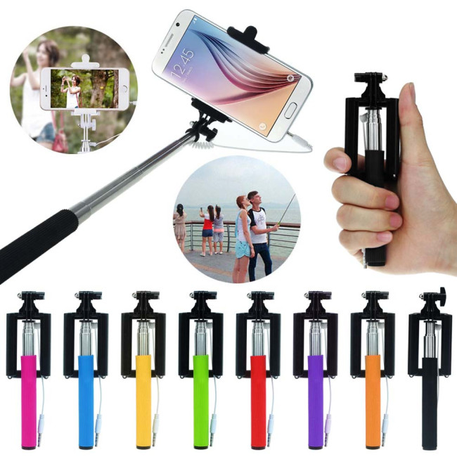 Durable Metal Shaft 1PC Mini Extendable Handheld Fold Self portrait Stick Holder Monopod Easy Adjust to Any Angle