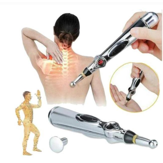 New Electronic Acupuncture Pen Electric Meridians Laser Therapy Heal Massage Pen Meridian Energy Pen Relief Pain Tools