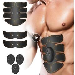 Smart EMS Electric Rechargeable Muscle stimulator Abdominal ABS Belly Trainer fitness Shaper Weight loss slimmingMassager