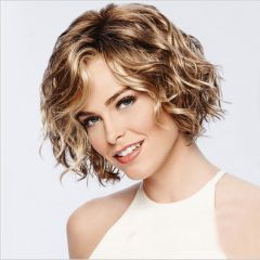 Short curly hair lady fluffy egg roll chemical fiber