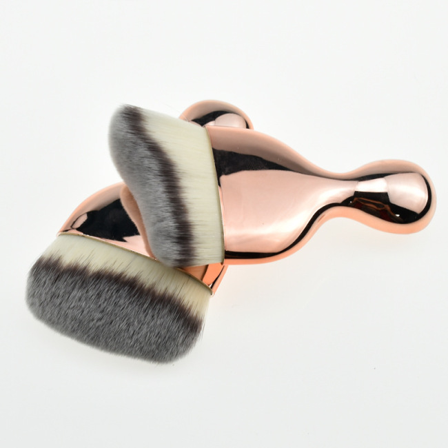 Factory direct new single golden wine cup type makeup brush wave curved high heel makeup brush foundation brush