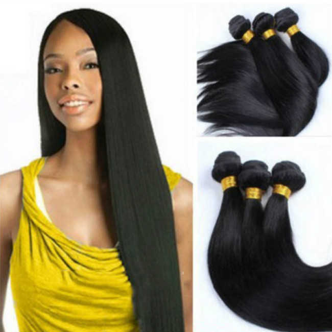 Generic African simulation hair curtain Weave Extension Unprocessed-Black