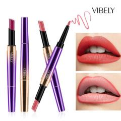 5pcs/set Double matte lipstick pen lip liner automatic rotating lip pencil easy to color