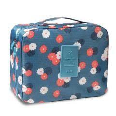 Second generation flower cloth portable travel wash bag travel waterproof storage bag square bag cosmetic bag