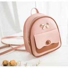 Multifunctional sweet lady backpack 2019 Japan and South Korea new fashion contrast color backpack shoulder diagonal female bag tide ride