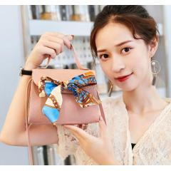 New fashion net red silk scarf lychee small square bag personality wild shoulder slung female bag portable