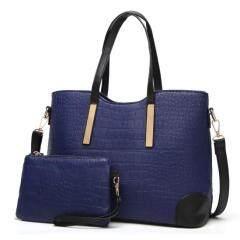 Spring and summer new women's bag embossed fashion boutique shoulder portable handbag crocodile diagonal cross-branches