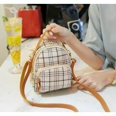 Fashion trend retro shoulder bag 2019 Japan and South Korea new net red printing plaid backpack shoulder slung female bag tide