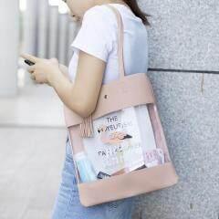 New small fresh shoulder bag flamingo bag shopping bag transparent leather handbag female bag hand bag