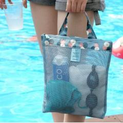 Summer swimming beach bag swimsuit mesh storage bag mesh storage bag wash bag sports handbag