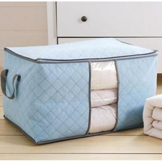 Bamboo charcoal quilt bag quilt clothes storage storage bag large non-woven clothing quilt bag