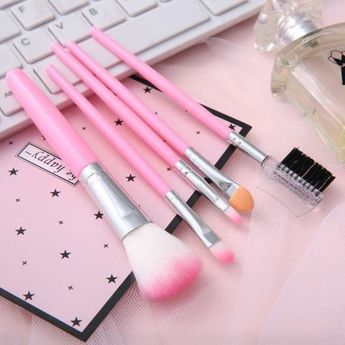 Mini 5 Makeup Brush Set Blush Brush Foundation Brush Eyebrow Brush Comb Beginner Eyeshadow Beauty Tools