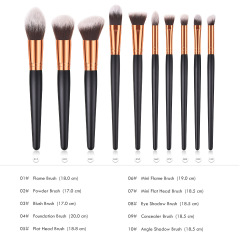 Professional 10pcs/Set Soft Makeup Brushes Kabuki Brush Blending Powder Foundation Blush Make Up Brush Eyeshadow Cosmetics Tool