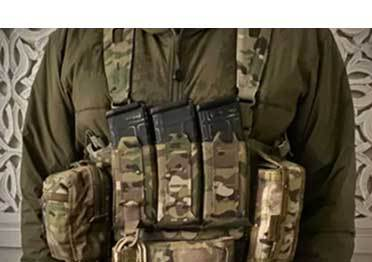 Blue Force Gear triple can mount quick draw M4 magazine bag