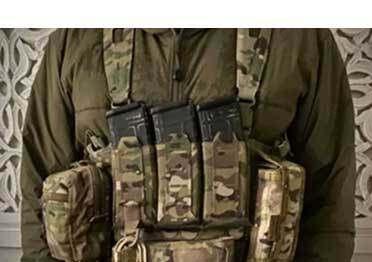 يمكن لـ Blue Force Gear triple تركيب حقيبة مجلة M4 ذات السحب السريع