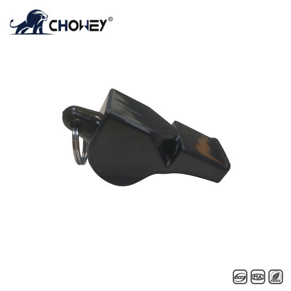 Police whistle WH0214 with break lanyard (Black)