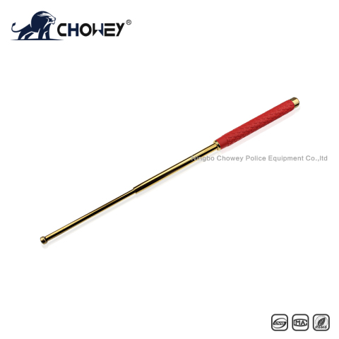 High-quality rubber handle steel expandable baton BT26G068 gold