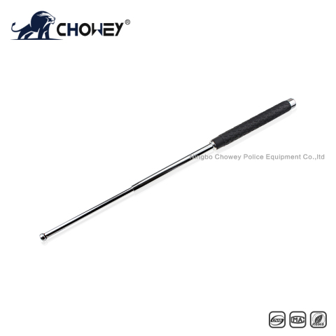 High-quality rubber handle steel expandable baton BT26S068 silver