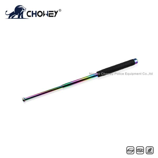 High-quality rubber handle steel anti riot expandable baton BT21C088 color