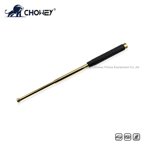 High-quality rubber handle steel anti riot expandable baton BT21G088 gold