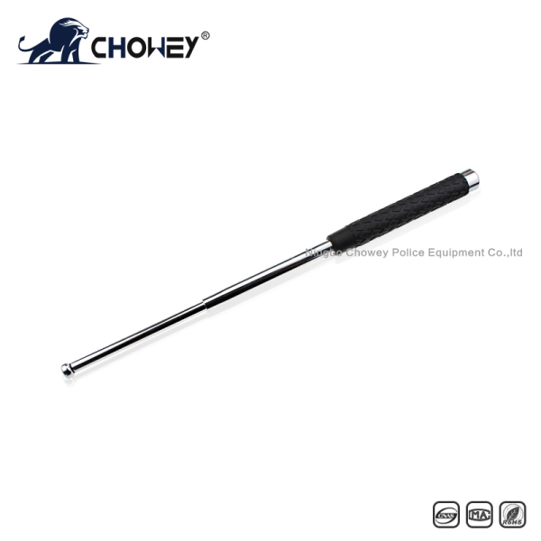 High-quality rubber handle steel anti riot expandable baton BT21S088 silver