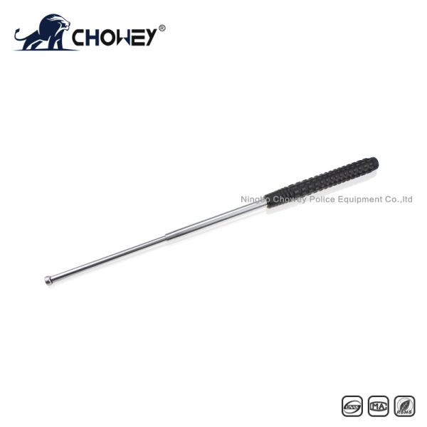 Anti riot telescopic expandable baton BT26S128 no welding ring silver