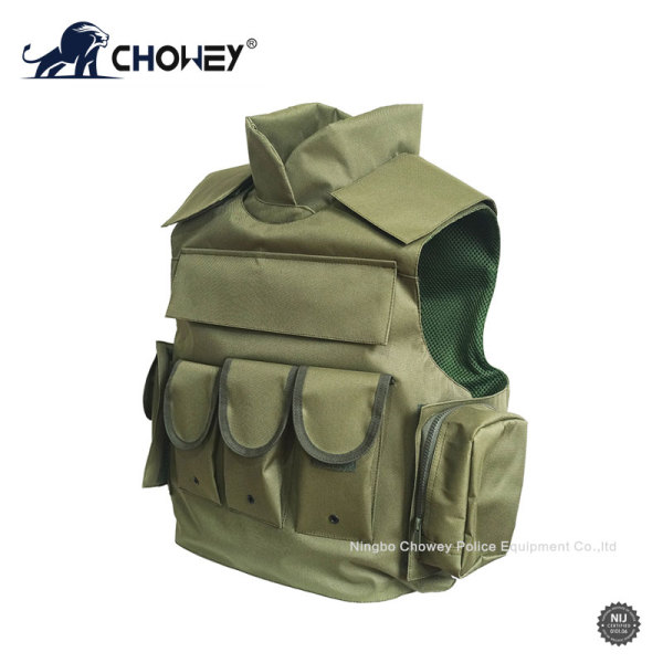 Multi-pocket Bulletproof Vest with Neck Protection BV0309