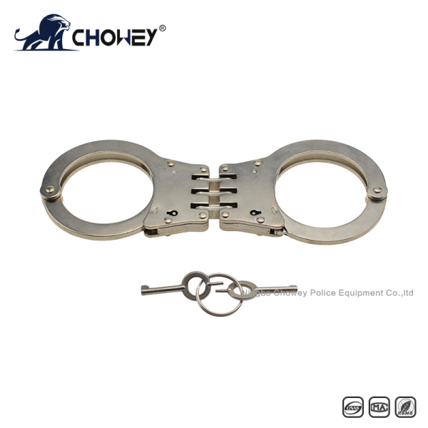Nickel plated carbon steel handcuffs HC0020